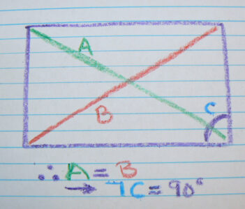 """Pythagorean Theorem 3-4-5 triangle An example is a = 3, b = 4 and c = 5, called """"the 3-4-5 triangle"""""""