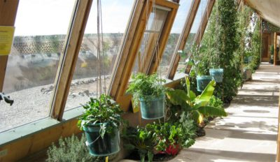 greenhouse greywater planter earthship biotecture